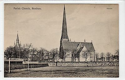 PARISH CHURCH, RENFREW: Renfrewshire postcard (C22578)