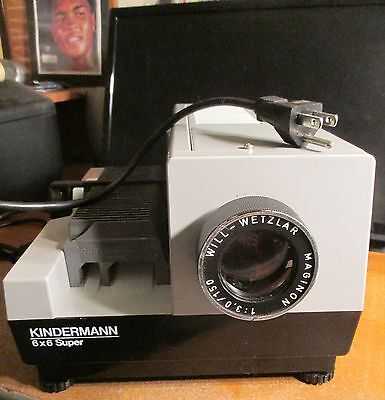 KINDERMANN 6 x 6 Super Slide Projector + CORD Made in Germany 4 REPAIR/Parts