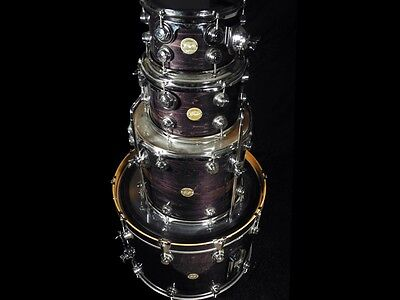 2007 Dw Collector'S Series 4 Piece Maple Vlt Shells ~ Ebony Lacquer Stain