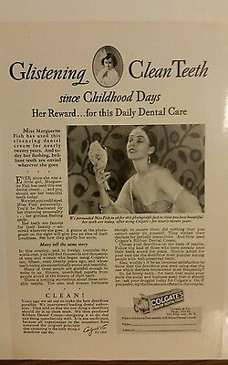 Vintage COLGATE  Print Advertising Very Good Condition
