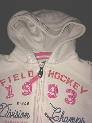 Girls White and pink zip through hooded jacked with pockets 2-4 years (US)