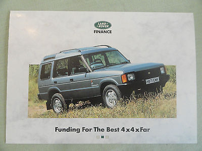 LAND ROVER ...Finance...Funding For The Best 4x4xFar.