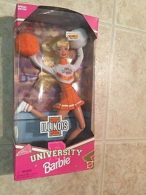 University of Illinois Cheerleader 1996 Barbie Doll