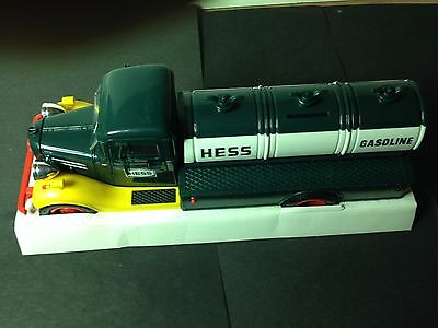 1985 First Hess Truck Toy Bank with original box Tested Lights work