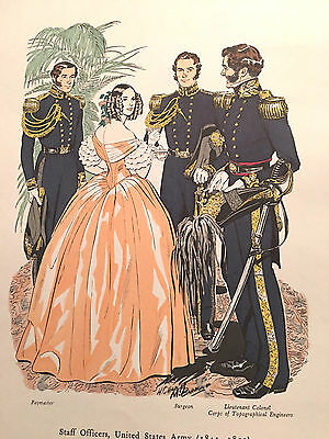 Staff Officers US Army 1841-1851 #221 Company Military Historians Uniforms  CMH