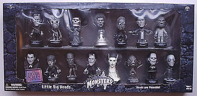 Universal Monsters - Little Big Heads Silver Screen Box Set 15x Figures Sideshow