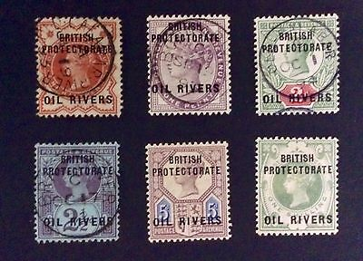 Rare Complete Collection Of 1892 Issue Of Stamps: Oil Rivers