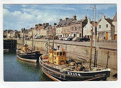 ANSTRUTHER HARBOUR: Fife postcard (C22380)