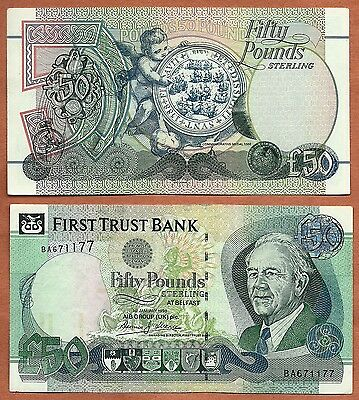 Northern Ireland 1998 AU 50 Pounds Sterling Banknote  Money Bill P-138a