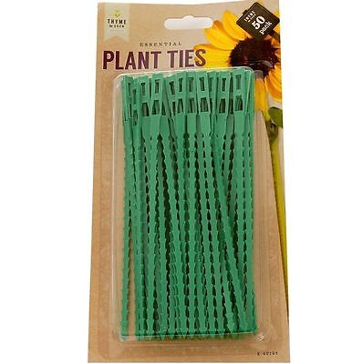50 x 17cm Reusable Garden Plastic Plant Cable Ties Tree Climbing Support
