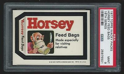 1977 Topps Wacky Packages Horsey Feed Bags 16th series PSA 9