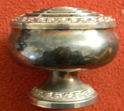 silverplate rose bowl by lanthe of England