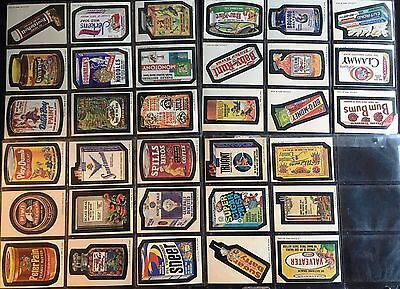 Wacky Packages Complete Series 6 Tan Back Sticker Set