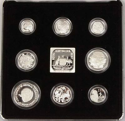 1991 Masterpieces In Silver -*25Th Anniversary Of Decimal* Silver Proof Set