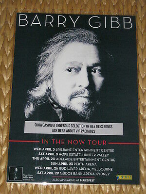 BARRY GIBB 2017  Australian Tour - In The Now Tour - Bee Gees - Laminated Poster