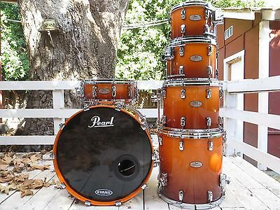 Pearl Reference 6 pc ~ Root beer fade ~ 20-ply snare drum! Mint condition