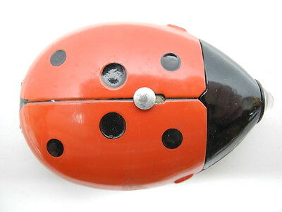 Vintage 1950's Daimon 4601 Ladybird Ladybug Flashlight Vielgluck Made in Germany