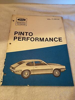 1971 Ford Pinto performance Registered Technican Volume 71 S-9 L-2 Original OEM