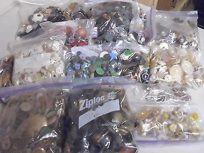 Mixed Lot Of Vintage Buttons 10 Pounds Arts And Crafts