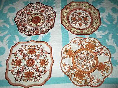 Spode Indian Red plates set of 4 plates , Beautiful set