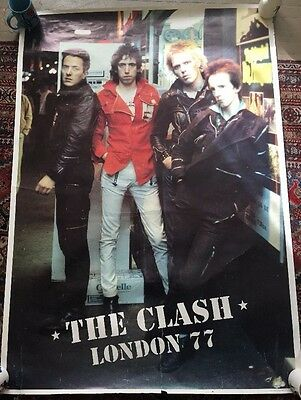 THE CLASH LONDON 1977 Punk Rock band Poster VERY RARE