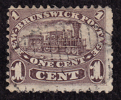 New Brunswick Scott #6A stamp - used - light cancel - 1860 - old classic !!