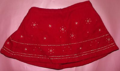 Girl's Xmas skirt age 6 - 9 months
