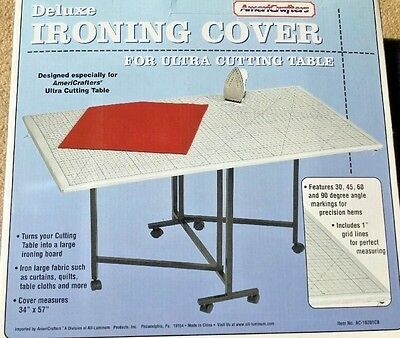 Americrafters Deluxe Ironing Cover For Ultra Cutting Table with Measurements