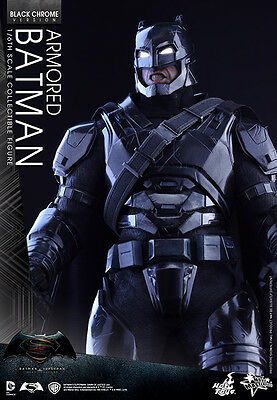 MMS356 Hot Toys BvS Dawn of Justice 1/6th scale Armored Batman Black Chrome vers