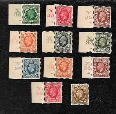 """1930's GREAT BRITAIN """" KING GEORGE V """"~ LOT OF 11 ~ MINT HINGED BARGAIN @ $10.00"""