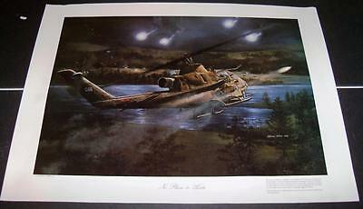 Bell AH-1S Cobra Mark Waki Print A PLACE TO HIDE Aviation Art Poster Print