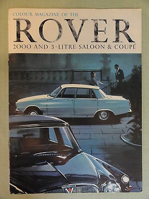 ROVER 2000 and 3-LITRE SALOON & COUPE... original sales brochure.