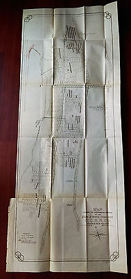 1899 Map of Cook and White Coal Mine C.C.R.R. Co Madrid New Mexico Gas Explosion