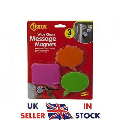 3pc Magnetic Fridge Magnets to leave messages Memo Note Pad with Pen Wipe Clean