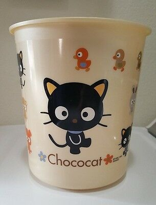 Chococat Small Plastic Trash Can Waste Bin Sanrio