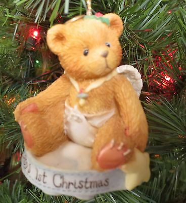 """Cherished Teddies Christmas Ornament """"Baby's First Christmas"""" 141240"""