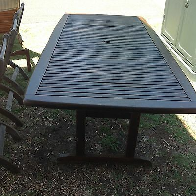 Outdoor table timber 1.2 x 1m Great condition  Your Display Gallery Greenwich