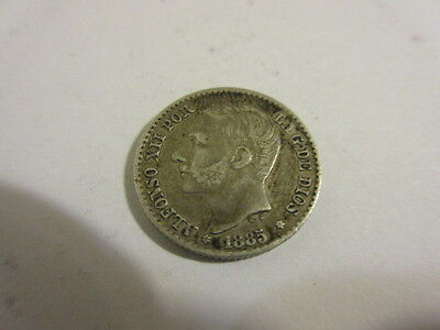 1885  Alfonso Xii 50 Cent Centimos Spain