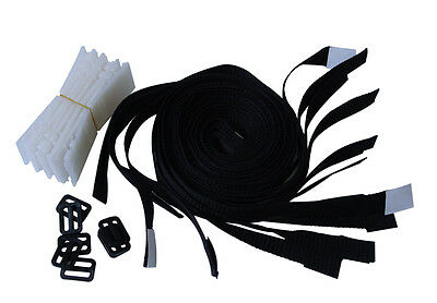 Strap Kit Swimming Pool Cover Solar Blanket Reel Roller Suits All New 8 Piece
