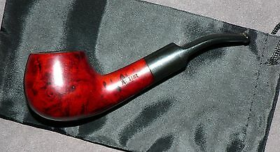 A TUR' Vintage Briar Tobacco Pipe & Cover. Used. Solid Condition.
