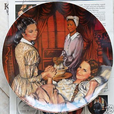"""Gone With The Wind """"MELANIE GIVES BIRTH"""" Collector Plate w/ Original Box Knowles"""