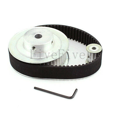 HTD 5M 48/12 Tooth Width 21mm Timing Pulley Belt set kit Reduction Ratio 4:1