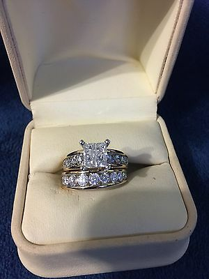 14ct Yellow gold with 3ct of Diamonds size N
