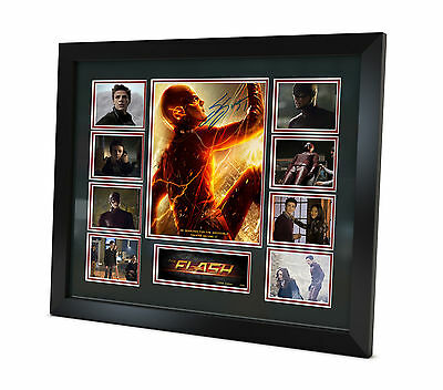 The Flash - Grant Gustin - Signed Photo Movie Memorabilia Framed COA