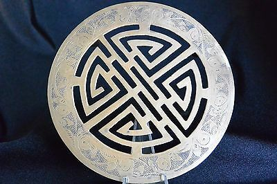Vintage Chinese Footed Brass Trivet