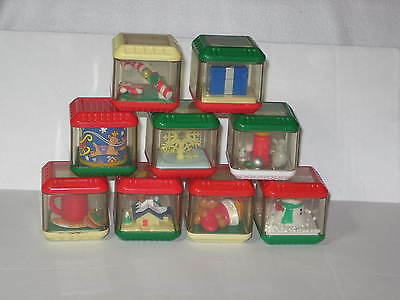 Fisher Price Christmas Peek a Blocks Lot of 9