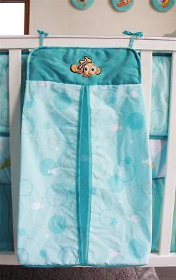 Blue Cartoon Nemo Fish Baby Crib Nursery Bedding Diaper Stacker Nappy Bag Pouch