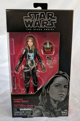 "Star Wars the Black Series Jaina Solo Legends 6"" Action Figure - New MIB"