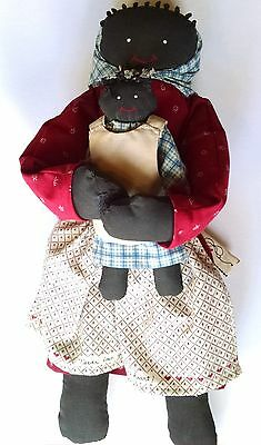 Vintage Black Americana Doll and Baby