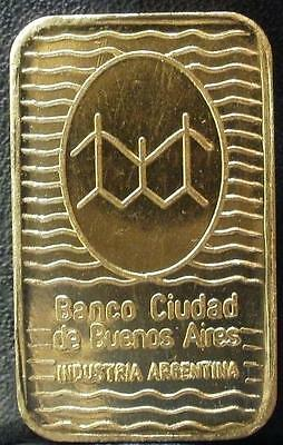 solid fine 999 bar CITY BANK ARGENTINA weight 10gr collect article collection